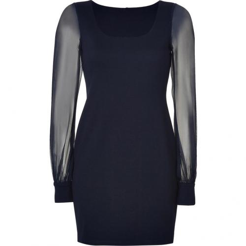 Bailey 44 Navy Morbid Angel Dress with Silk Chiffon Sleeves