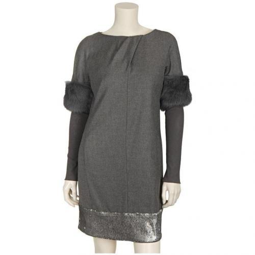 Blacky Dress Kleid Grau mit langen Ärmeln