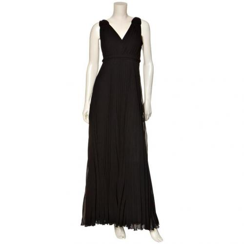 Blacky Dress langes Plissee-Kleid