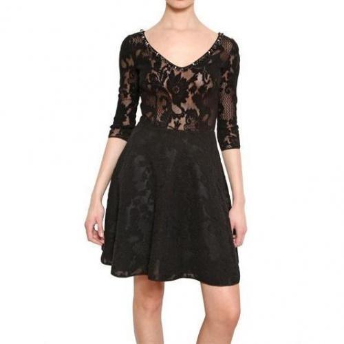 Blugirl Besticktes Woll Spitzen Kleid