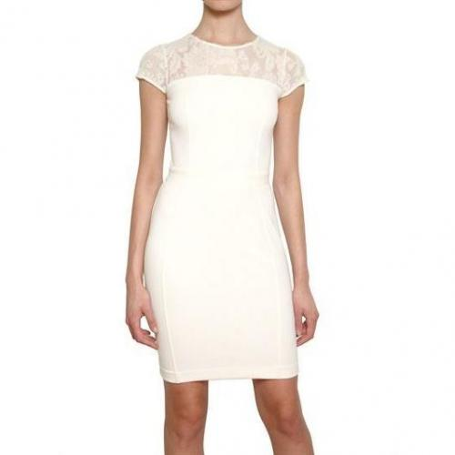 Blugirl Woll Spitze & Rayon Milano Naht Kleid