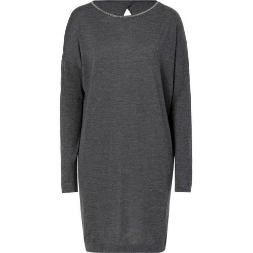 Brunello Cucinelli Platinum Cashmere-Silk Dress
