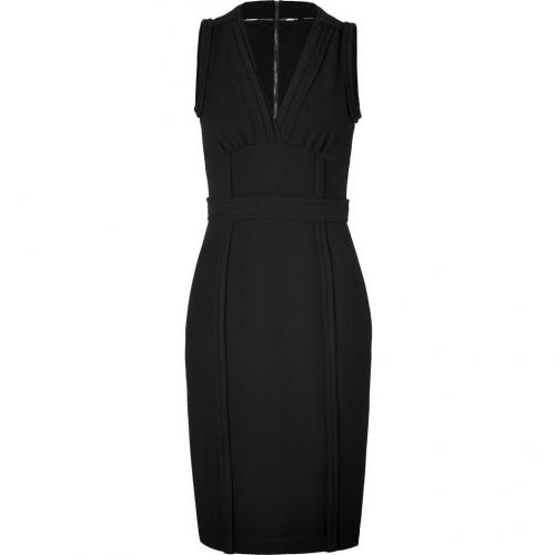 Burberry London Black Sleeveless Stretch Crepe Elvina Kleid