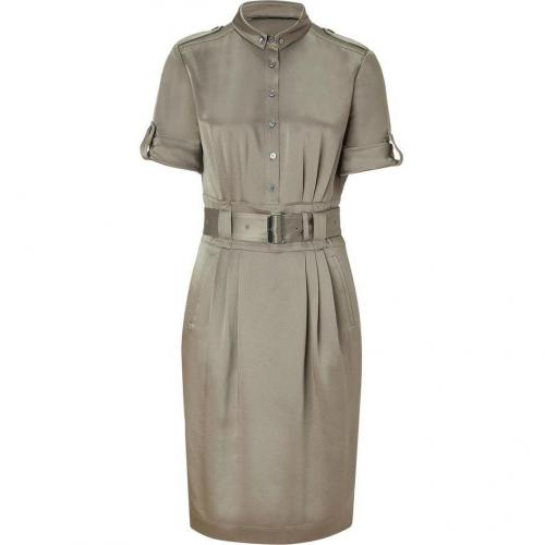 Burberry London Pebble Belted Silk Kleid