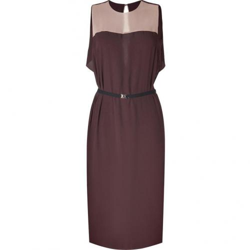 By Malene Birger Brown/Blush Crepe Leonzio Dress