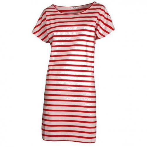 Bzr Kleid gestreift rot/rosa