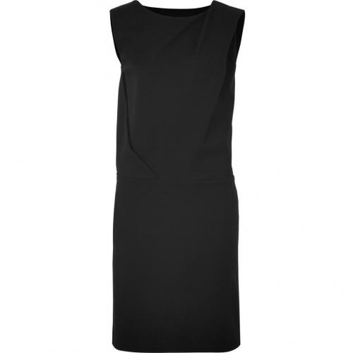 Cacharel Black Draped Kleid with Side Pockets