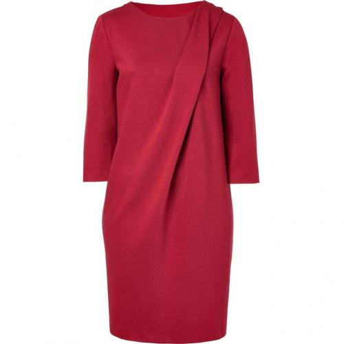 Cacharel Brick Draped Kleid