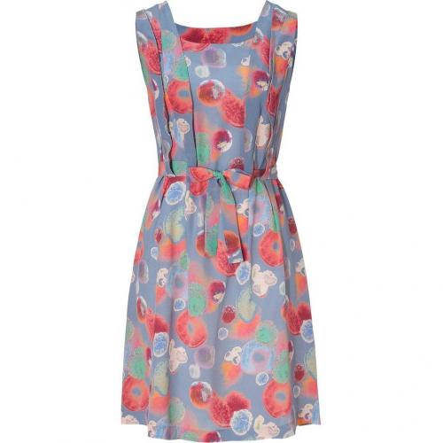 Cacharel Multicolor Bubbel Printed Silk Kleid