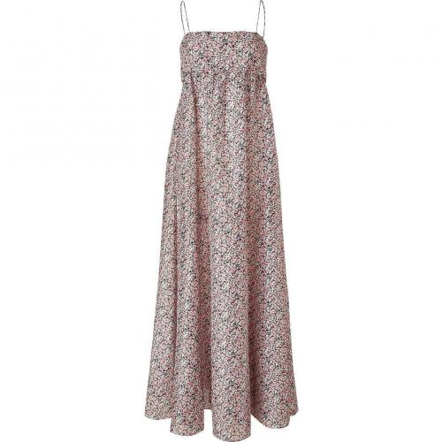 Cacharel Multicolor Floral Print Maxi Kleid