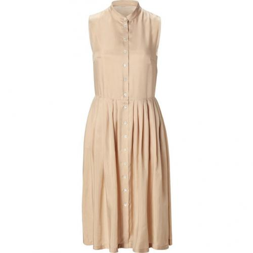 Cacharel Nude Sleeveless Shirt Kleid