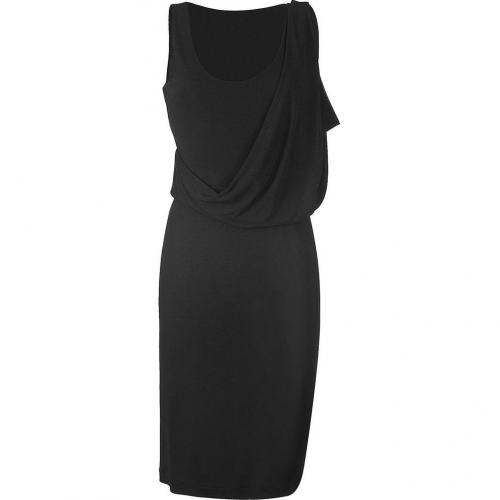Calvin Klein Collection Black Draped Kleid