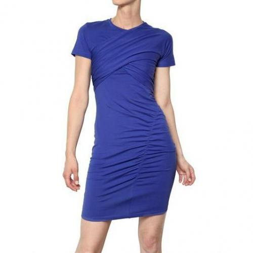Carven Gerafftes Jersey Stretch Kleid