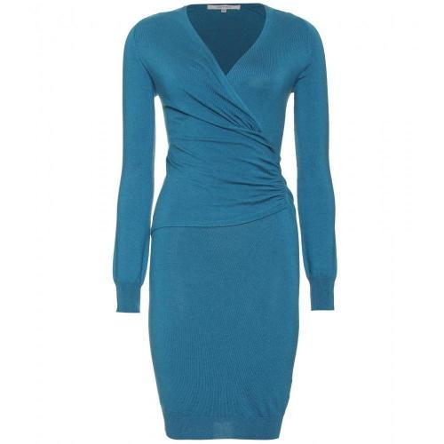 Carven Gerafftes Strickkleid