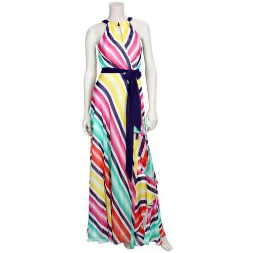 Coast Kleid Tia Stripe Maxi Weiß