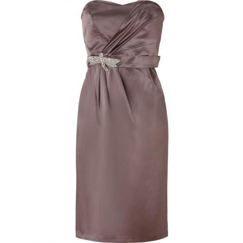 Collette Dinnigan Donkey Strapless Silk Dress
