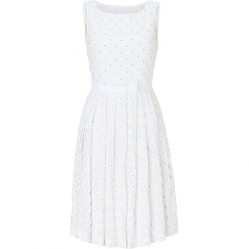 Collette Dinnigan White Embroidered Silk Daisy Dress
