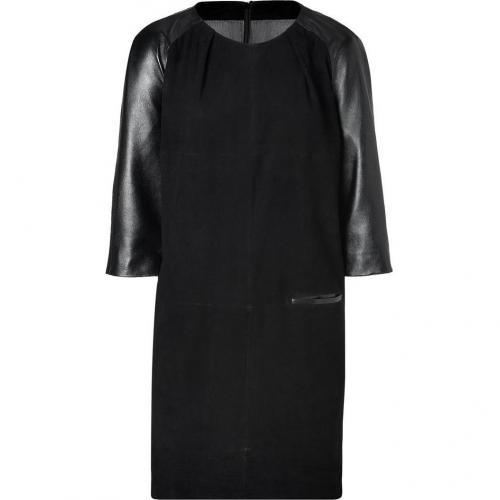 Day Birger et Mikkelsen Black Suede/Leather Dress