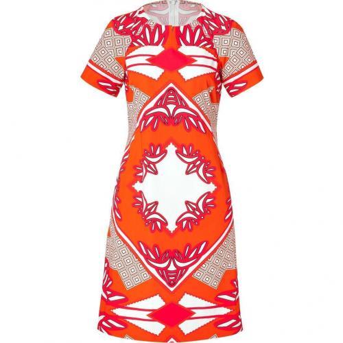 Derek Lam Sunset Multi Graphic Print Cotton Dress
