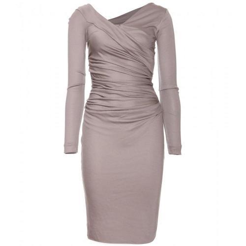 Diane von Furstenberg Bentley Drapiertes Kleid Grau