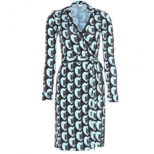 Diane von Furstenberg New Jeanne Two Wickelkleid Türkis Muster