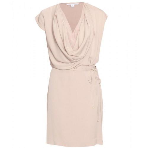 Diane von Furstenberg New Reara Drapiertes Kleid Beige