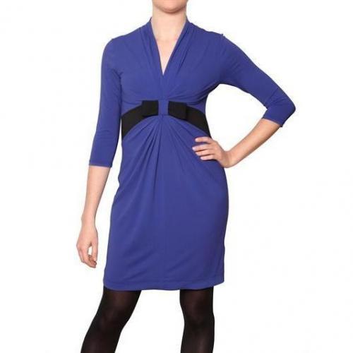 Didier Parakian Stretch Jersey Crepe Effekt Kleid