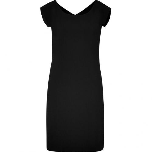 DKNY Black Modern Cap Sleeve Kleid