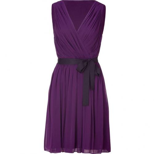 DKNY Blueberry Pleated Silk Kleid