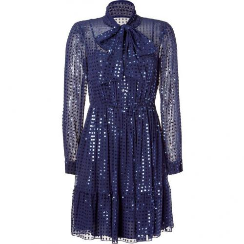 DKNY Cadet Blue Sequined Kleid