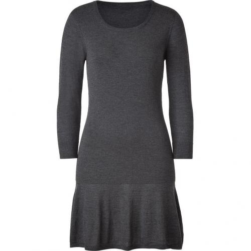 DKNY Flannel Scoop Neck Wool Kleid