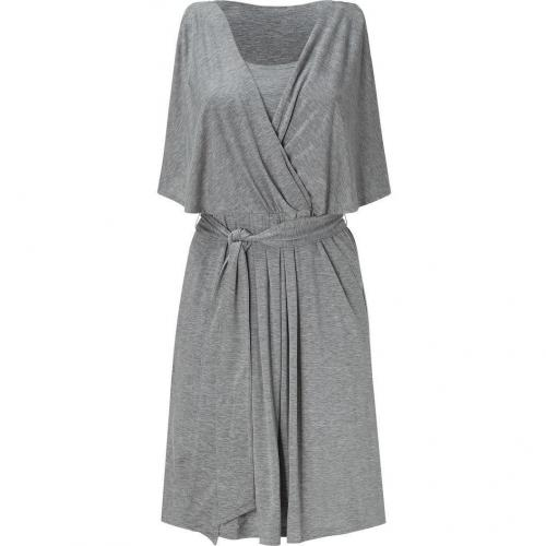 DKNY Gravel Heather Drape Sleeve Kleid