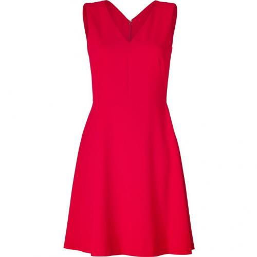 DKNY Scarlet Red V-Neck Kleid