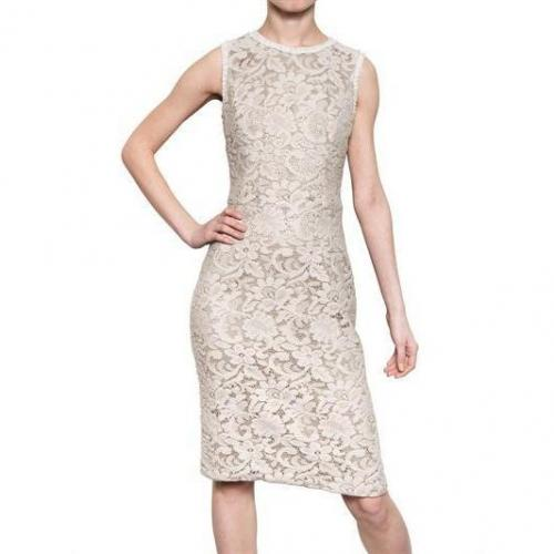 Dolce & Gabbana Daisy Gemischtes Woll Spitzen Kleid