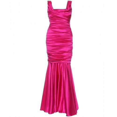 Dolce & Gabbana Drapiertes Seiden Abendkleid