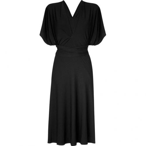 Donna Karan Black Infintity Kleid With Flare Skirt