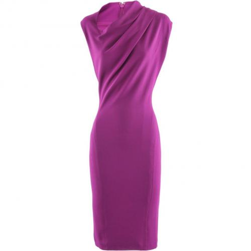 Donna Karan Fuchsia Asymmetric Dress