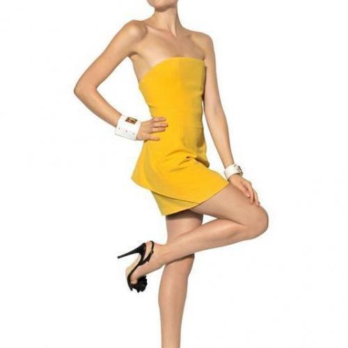 Dsquared Texturiertes Trägerloses Baumwoll Kleid