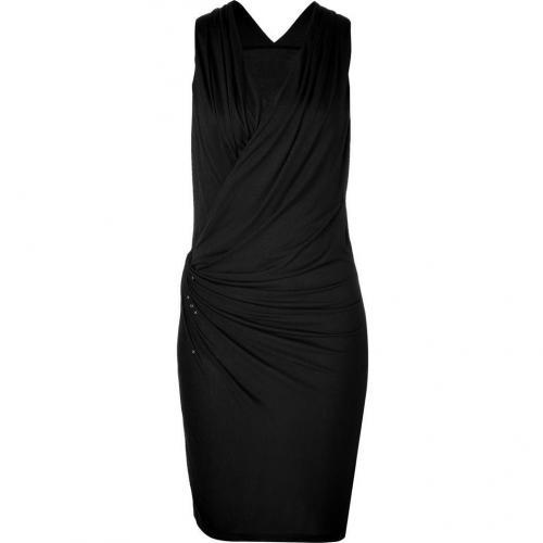 Edun Black Drape Front Dress