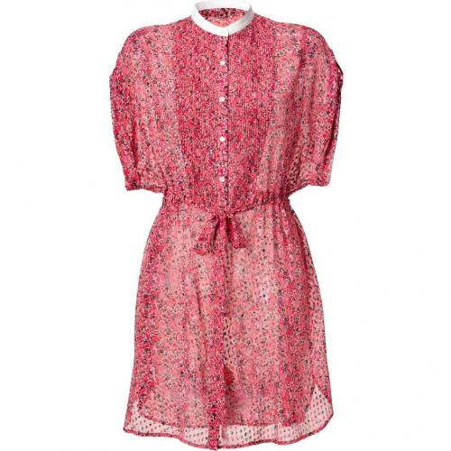 Edun Rose Diffusion Print Shirt Dress