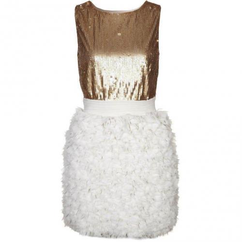 Elisabetta Franchi Cocktailkleid / festliches Kleid avorio