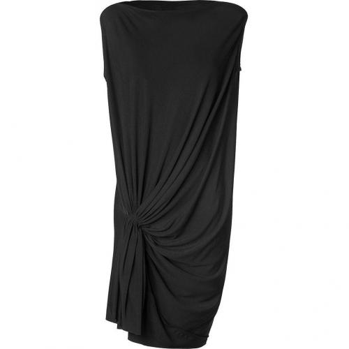 Emanuel Ungaro Black Side Knotted Kleid