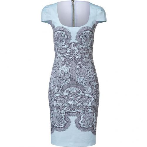 Emilio Pucci Azure Lace Print Sheath Dress