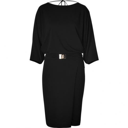 Emilio Pucci Black Draped Dolman Dress