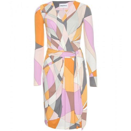 Emilio Pucci Knielanges Kleid Mit Print Bunt