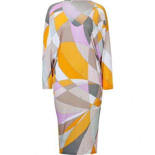 Emilio Pucci Pumpkin Multi-Cube Dolman Dress