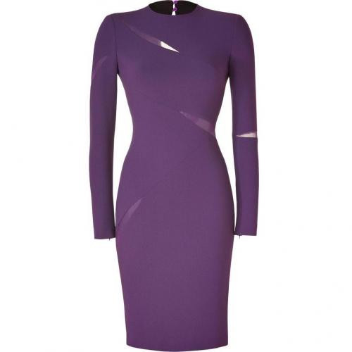 Emilio Pucci Purple Silk Trim Sheath Dress