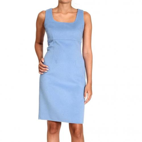 Ermanno Scervino Sleeveless double angora wool cloth dress