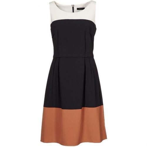 Esprit Collection Etuikleid schwarz braun weiß