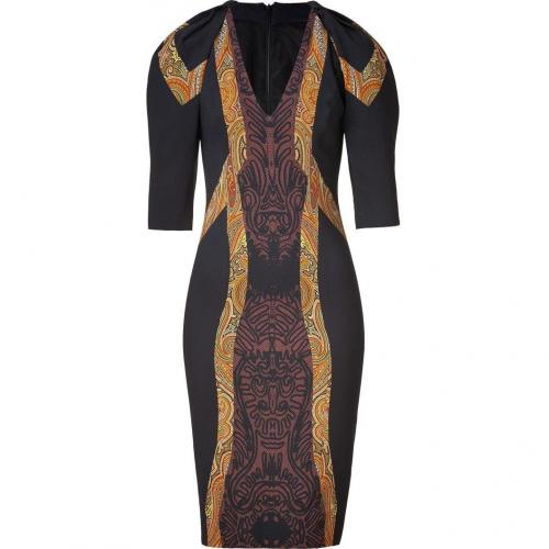Etro Black-Multi Sheath Kleid